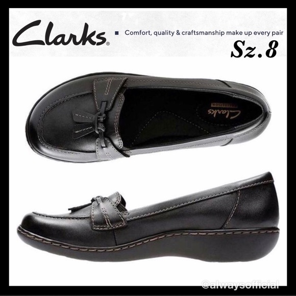 d13c44bc782 (BLACK) CLARKS ASHLAND BUBBLE SLIP-ON LOAFERS